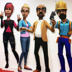 Animerade figurer figurskuret