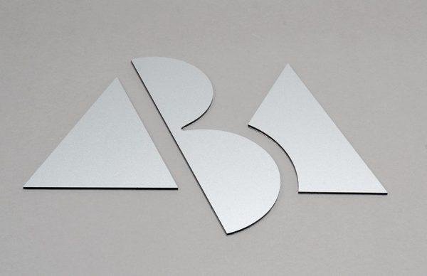 ABA logga i grå ton